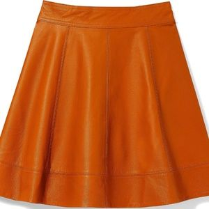 Bebe real leather skater skirt